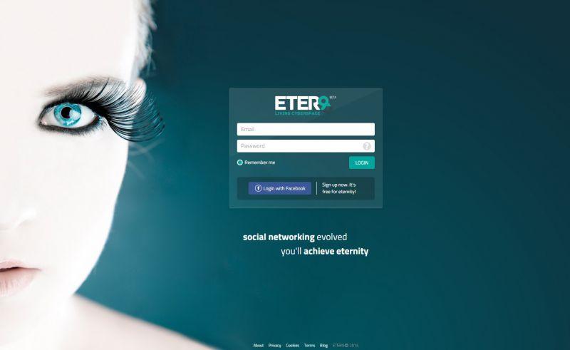 La pagina di login di ETER9.