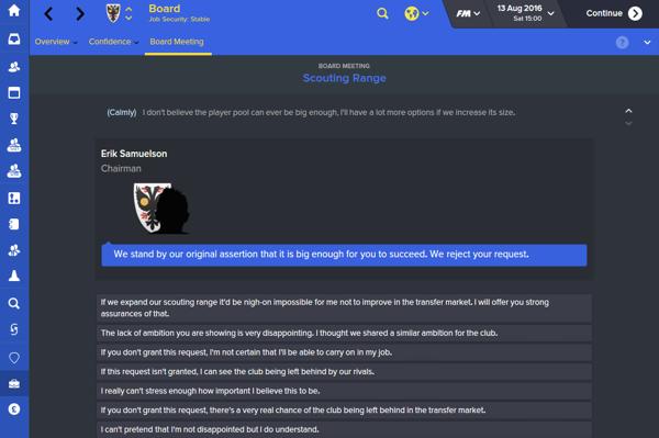Football Manager 2016. Tutte le novità più belle: sono state aggiunte molte risposte alle conferenze stampa