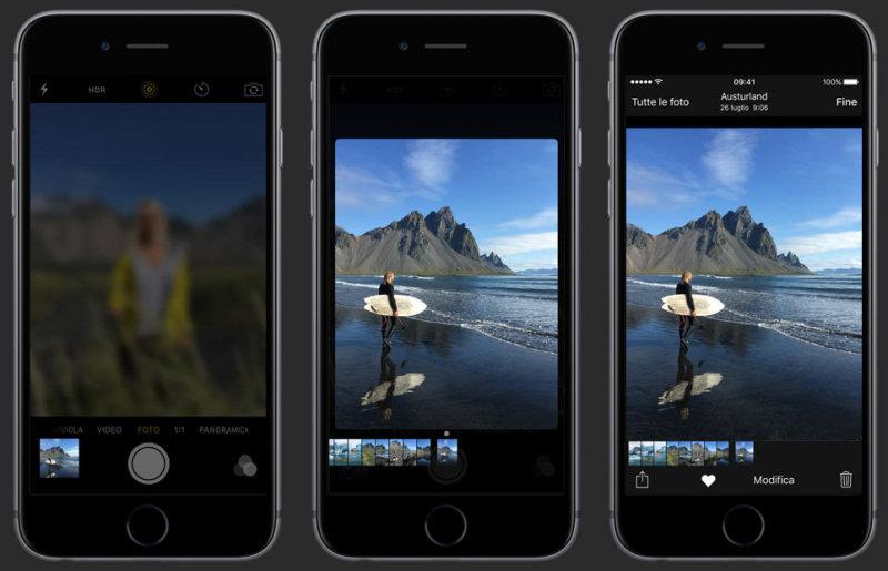 iPhone 6S: i trucchi. Il rullino fotografico è visualizzabile durante lo scatto delle nuove foto.