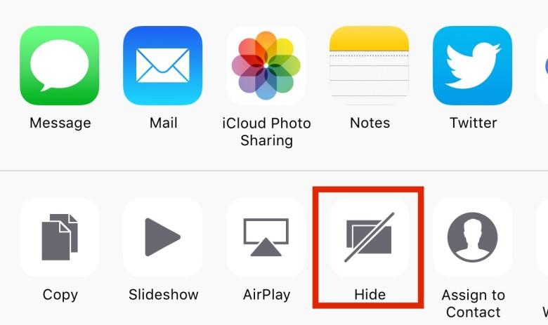 iOS 9, i trucchi: le foto possono essere nascoste per aumentare la privacy.