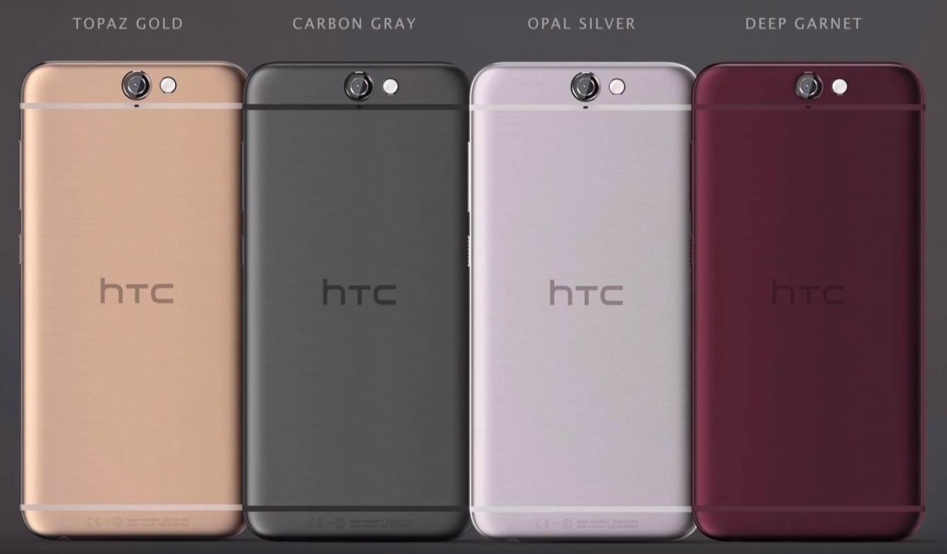 Il nuovo HTC One A9 è disponibili in quattro colori