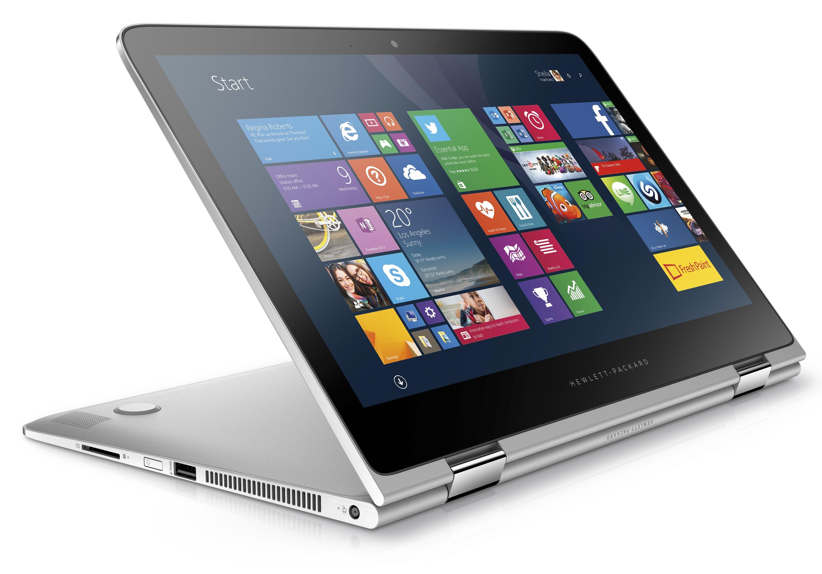 Le cerniere permettono di trasformare l'HP Spectre x360 in un tablet