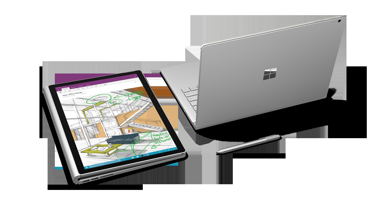 Il Surface Book è dotato di un comodo pennino che si attacca al lato con un magnete