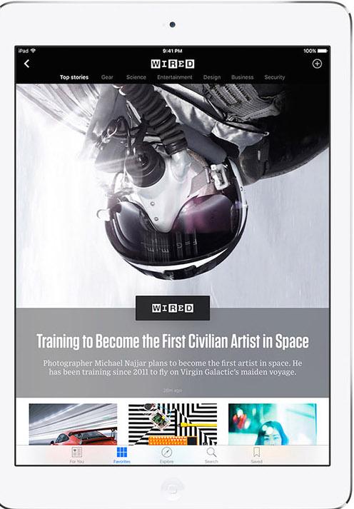 Come appare un articolo della rivista Wired su Apple News