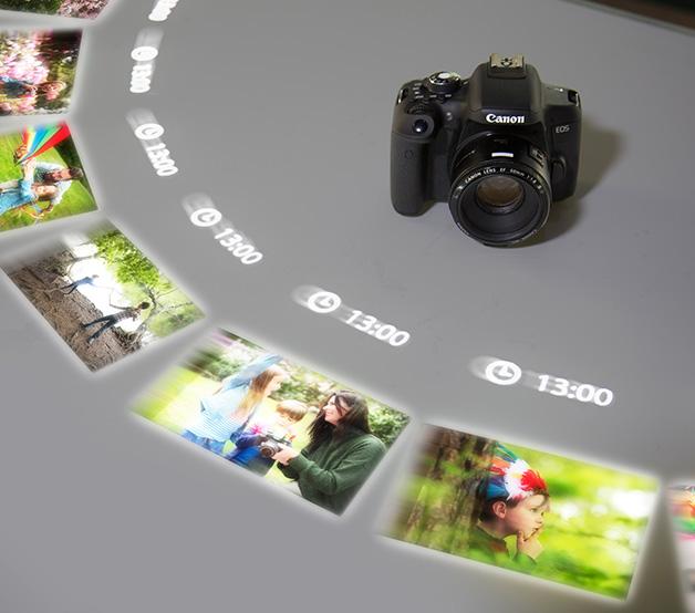 La tecnologia Imaging for Life permette di condividere in tempo reale tutte le foto e i video acquisiti, raggruppando contenuti provenienti da social, librerie, cloud diversi tra loro.