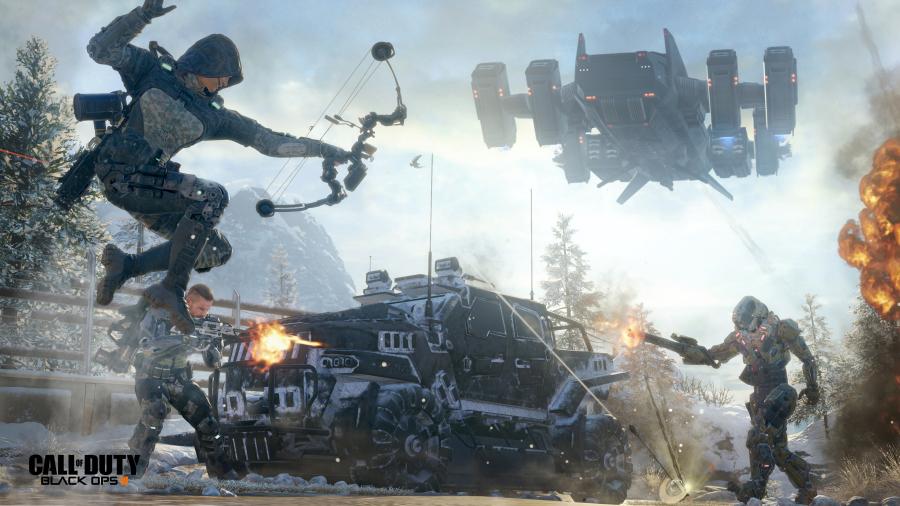 Call of Duty Black Ops III: grazie ai Cyber Core i personaggi potranno compiere azioni al limite della fantascienza.