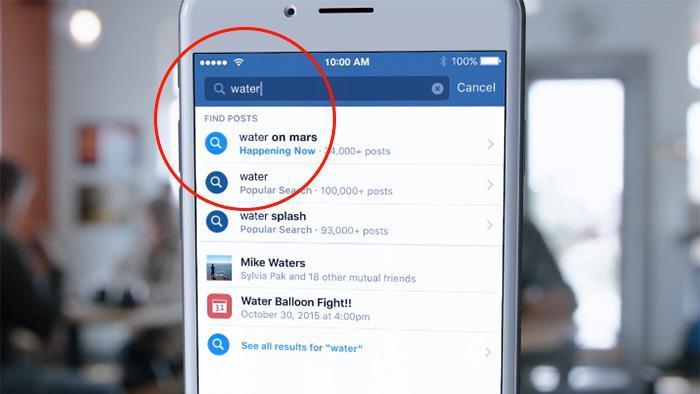 """Facebook Search FYI: tra i risultati della ricerca, anche quelli del """"motore"""" interno."""