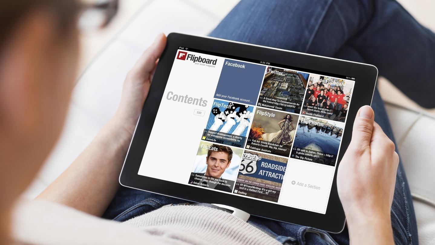 Flipboard è stata una delle prima app pensate per mantener aggiornati gli utenti su argomenti di loro interesse