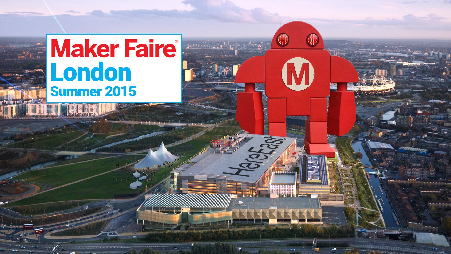 La Maker Faire organizzata a Londra. Ogni anno sono centinaia le comunità locali che si attivano per accogliere la fiera nella propria città