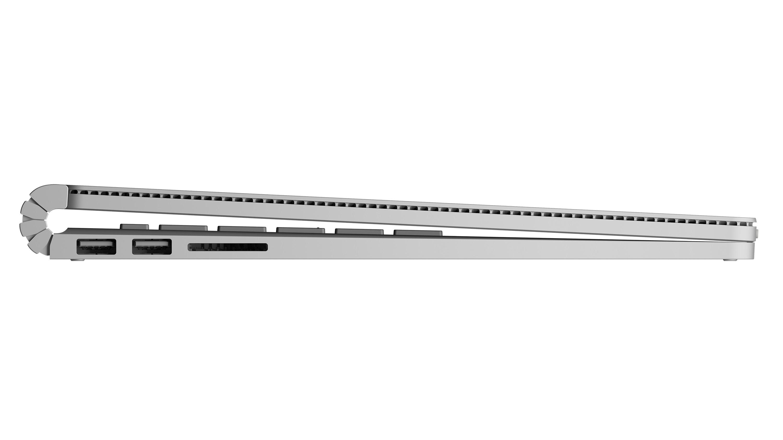 Lo spessore del Surface Book va dai 13 mm ai 22 mm