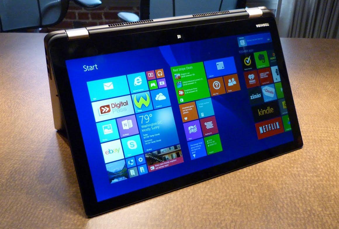 I nuovi laptop come il Toshiba Satellite Radius 14 possono essere utilizzati con la funzione di tablet