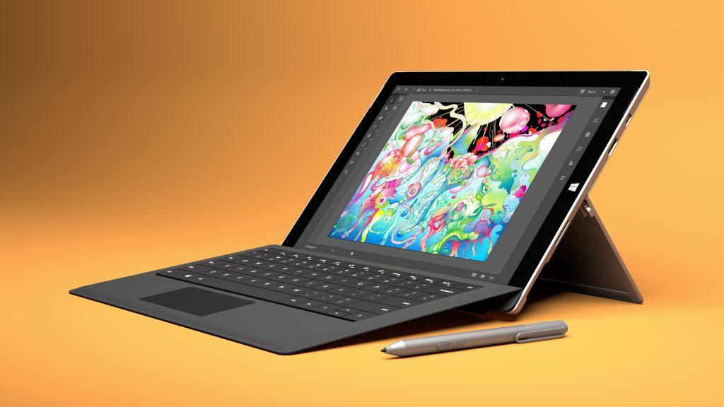 Il Microsoft Surface Pro 4 è più leggero e snello del Pro 3, e lo schermo più grande è anche più brillante