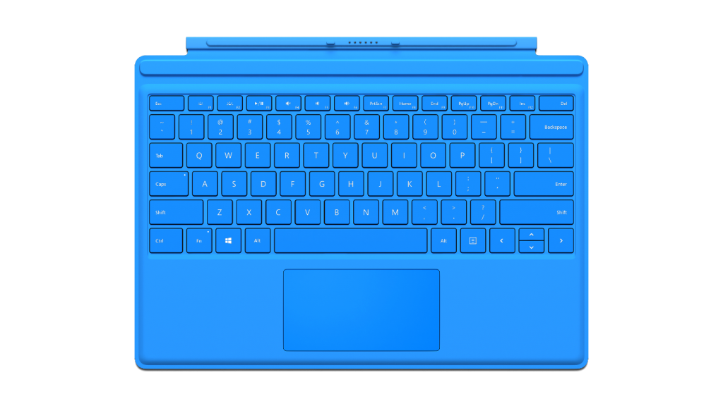 Il Microsoft Surface Pro 4 ha una tastiera finalmente comoda, con i tasti ben distanziati. Anche se va acquistata a parte