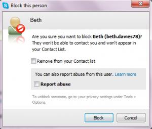 La sicurezza di Skype. Le istruzioni per bloccare e segnalare persone moleste