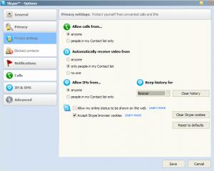 La sicurezza di Skype si basa su alcune impostazioni per la gestione dei contatti.