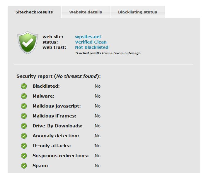 Sucuri SiteCheck fornisce un report molto dettagliato sulle possibili minacce che colpiscono un sito