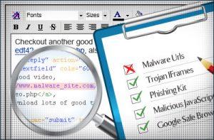 Virus e malware si possono annidare fra le righe di codice di un sito web
