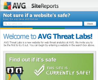 Per controllare se un sito web ha un virus, AVG mette a disposizione un potente tool gratuito