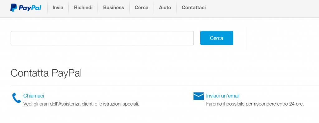 In caso di sospetta frode o phishing, contattare immediatamente l'assistenza PayPal