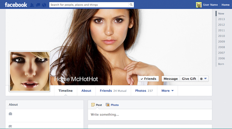 Riconoscere un account fake di Facebook in base al genere: la donna sexy
