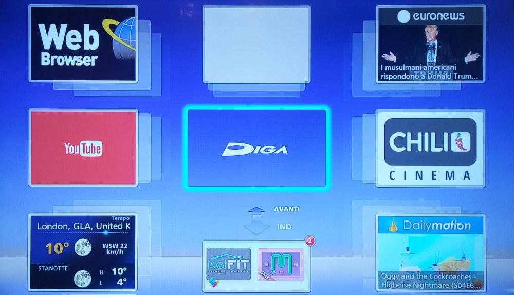 DIGA Player fa sbarcare le funzioni del Panasonic DMR-BWT745EC su smartphone e tablet
