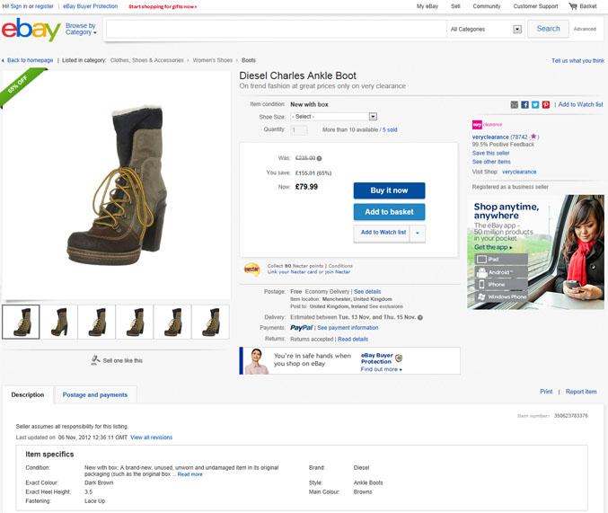 Comprare sicuri su eBay? Si può: basta leggere con attenzione la descrizione del prodotto e i feedback degli altri utenti