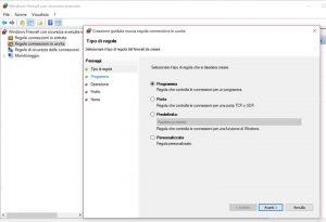 Il procedimento per bloccare un programma con Windows Firewall è lo stesso, sia che si tratti dei programmi in entrata che di quelli in uscita