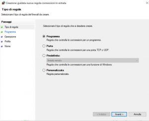 Per bloccare un programma con Windows Firewall si possono creare nuove regole di connessioni