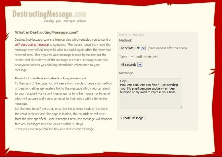 Inviare messaggi che si autodistruggono con Destructing Message è semplice e veloce