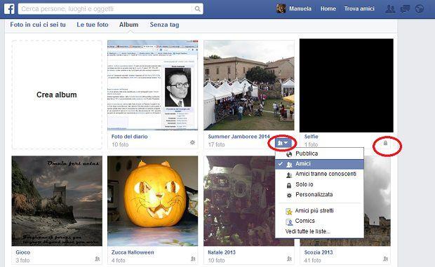 """Per aumentare la privacy Facebook è necessario """"blindare"""" le foto pubblicate. Per ogni albun è possibile scegliere il pubblico con cui condividere tutti gli scatti"""