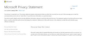 """Sicurezza Windows 10: il """"privacy statement"""" di Microsoft racchiude molte sorprese."""