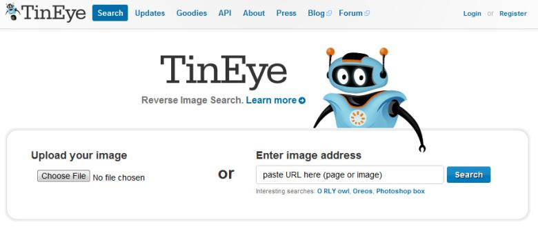 Per verificare se una delle nostre foto è stata rubata e utilizzata da qualcuno a nostra insaputa, è possibile chiamare in causa TinEye.