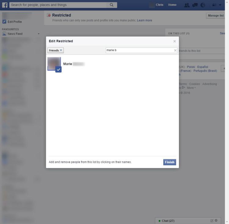 """Per limitare la visibilità Facebook è possibile """"nascondere"""" i nuovi contenuti a uno o più utenti, in modo che non vedano cosa si pubblica sulla bacheca."""