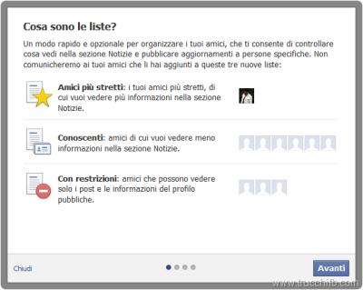 """Per limitare la visibilità Facebook è possibile inserire uno o più amici nelle """"liste limitate""""."""