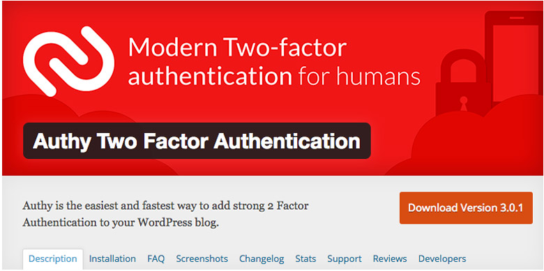 migliori plugin di sicurezza per WooCommerce Authy Two Factor Authentication