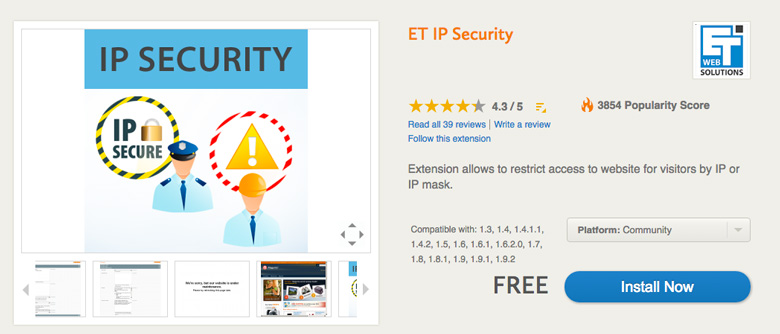 migliori plugin di sicurezza per Magento IP Security
