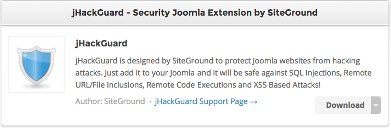 plugin di sicurezza per Joomla! JHack Guard