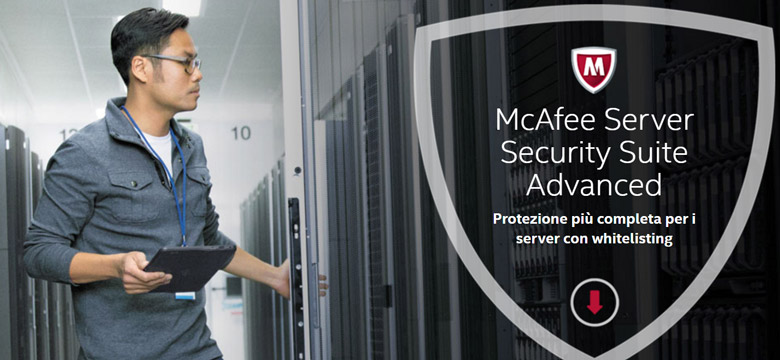 software per la sicurezza dei server mcafee server security suite advanced