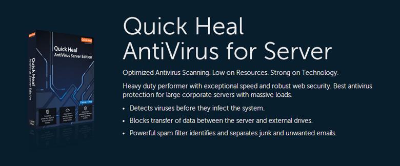 software per la sicurezza dei server quick heal anti-virus for server