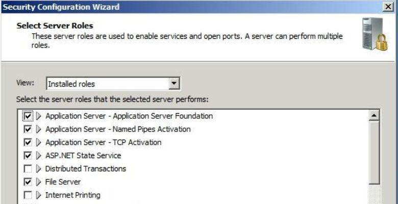 mettere in sicurezza un server windows con security configuration wizard