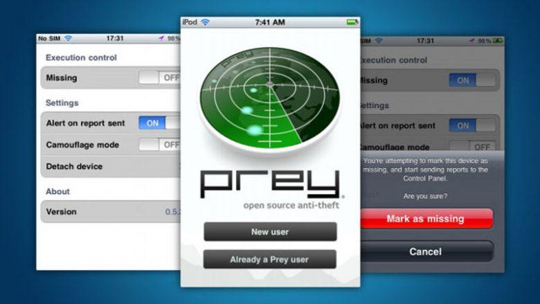 Prey anti-theft: app open source per ritrovare uno smartphone perso