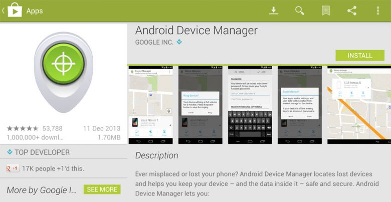 Android Device Manager: app per ritrovare uno smartphone Android