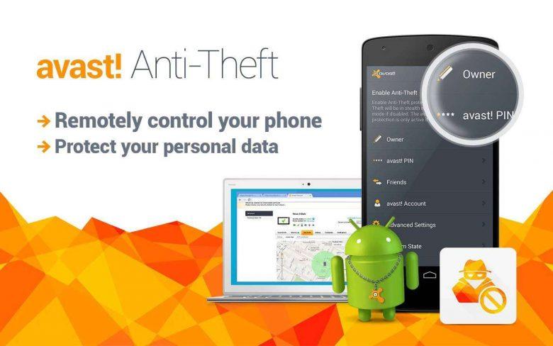 Avast propone Avast Anti-Theft, un'app per ritrovare uno smartphone da remoto