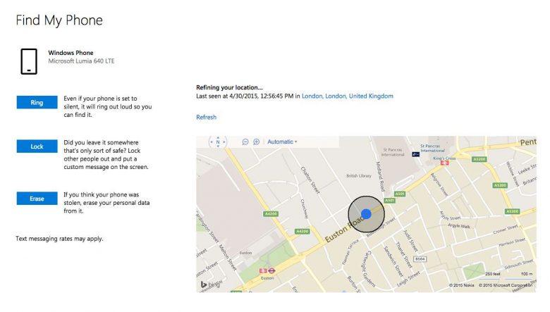Trova il mio telefono: un'app per ritrovare uno smartphone Microsoft.