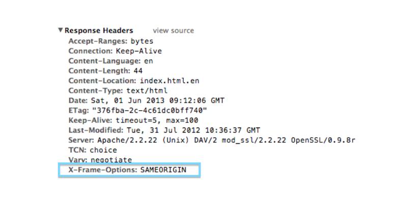 sicurezza web server apache e attacchi clickjacking