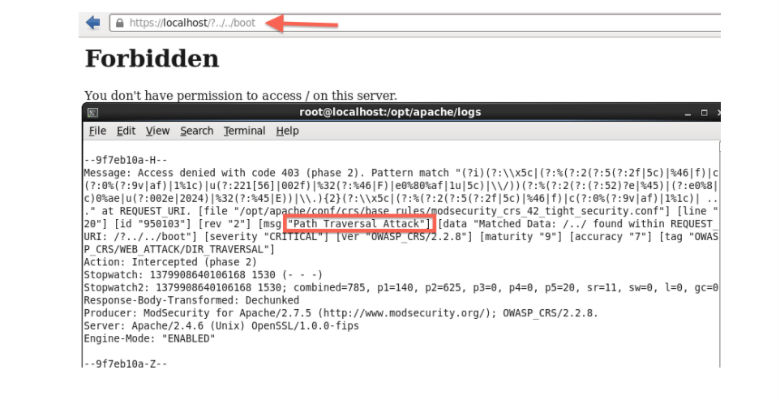 sicurezza web server apache e attacchi directory trasversal
