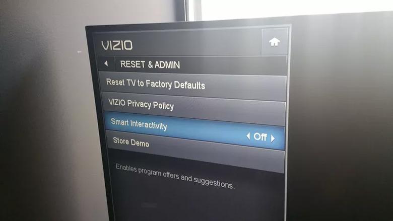 Funzione Smart Interactivity della Smart Tv Vizio