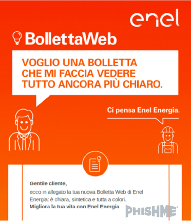 La mail di Enel Energia con il virus Zeus Panda