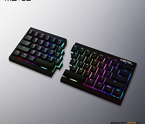 La Mistel Barocco è una tastiera ergonomica particolare, retroilluminata e con molte scorciatoie. E' pensata per videogamer, programmatori e puristi della digitazione.