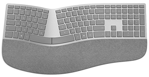 Progettata per Surface, questa tastiera ergonomica ha un eccellente conformazione per il polso e la mano, oltre ad una barra spaziatrice divisa a metà, che la rendono la scelta migliore nella categoria Wireless